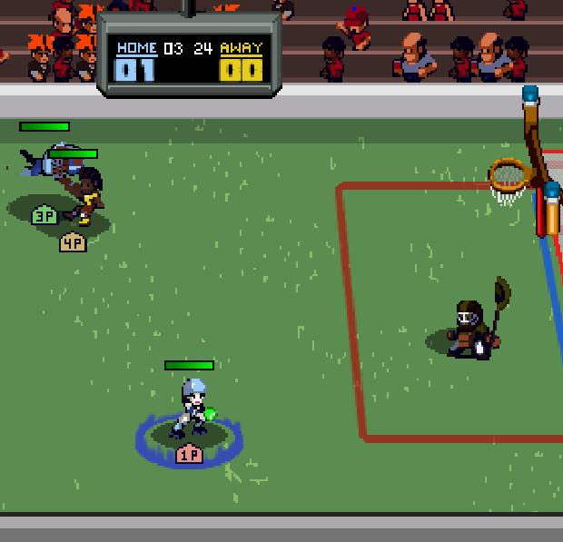 Super Slam Dunk Touchdown gameplay screen shot featuring Roller Derby Girl