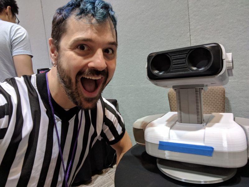 me and a 3D printed, R.O.B.
