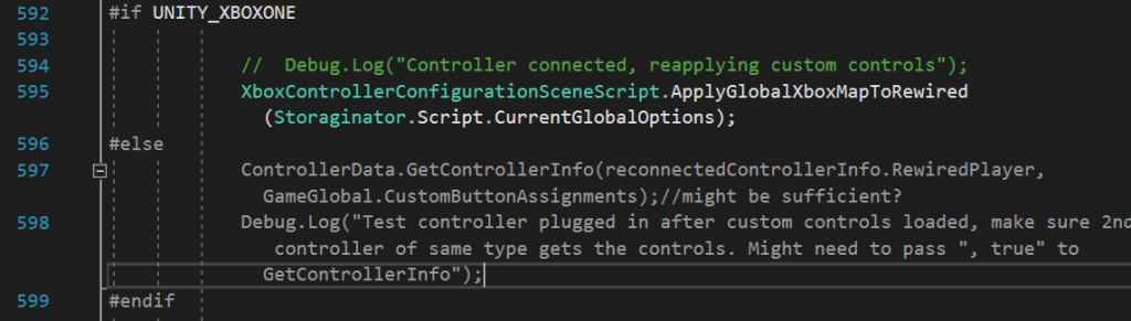 Fun fact: there's a bug in this code snippet but it didn't register until I ported back to PC.