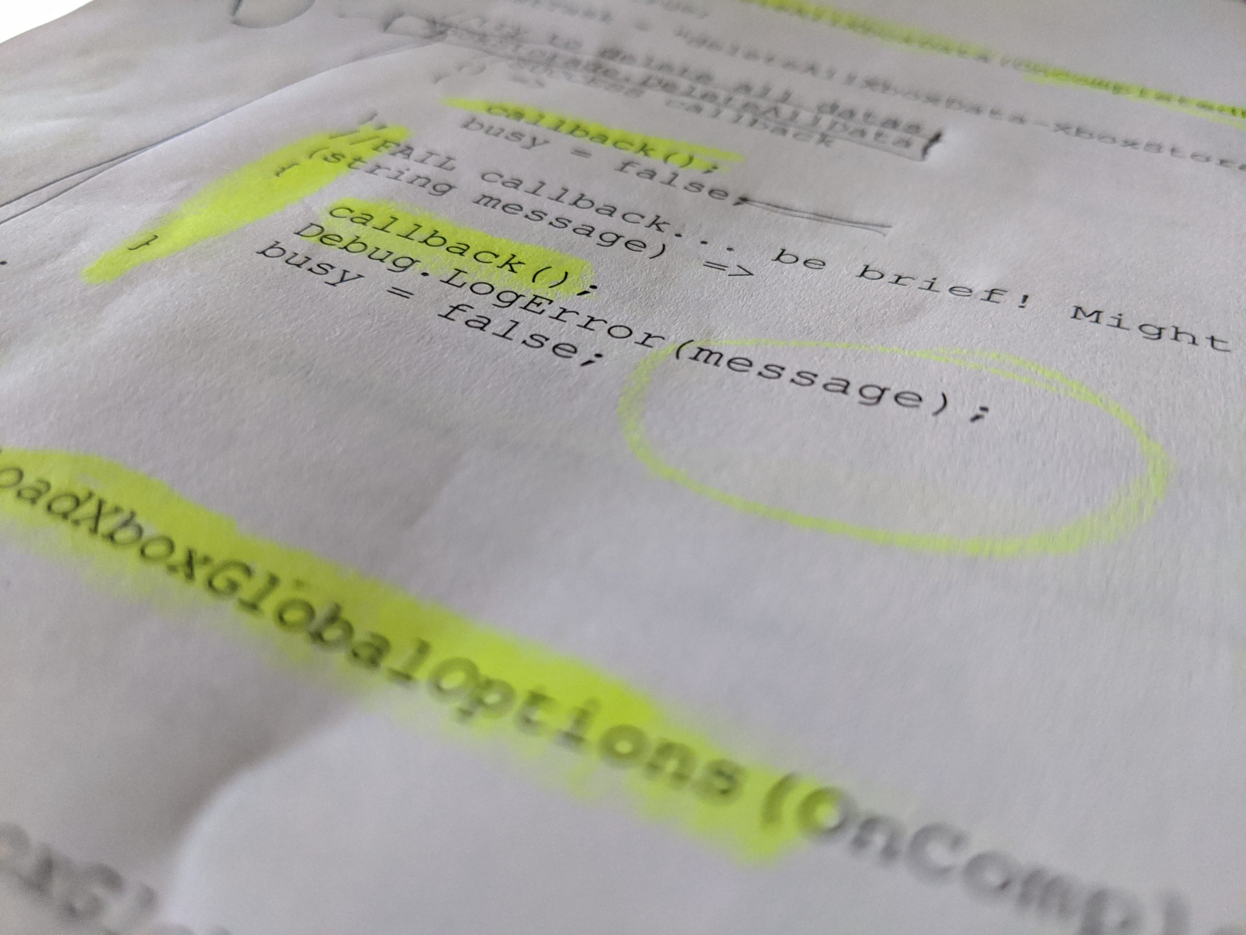 crappy old code printed on paper. you aren't missing much.
